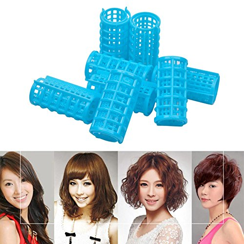 6pcs Plastic 36mm Hair Rollers for Woman For Hair Styling Curling Purposes