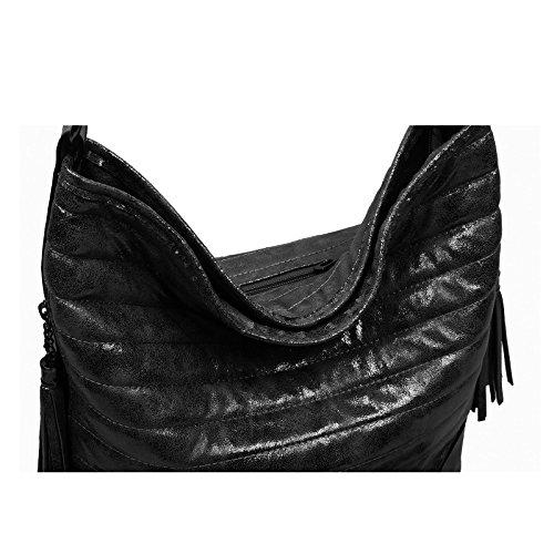 OBC Only-Beautiful-Couture, Borsa a tracolla donna nero nero ca.: 38x30x17 cm (BxHxT) nero