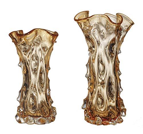 OK Lighting Pfirsich Sorbet Set Glas Vase -