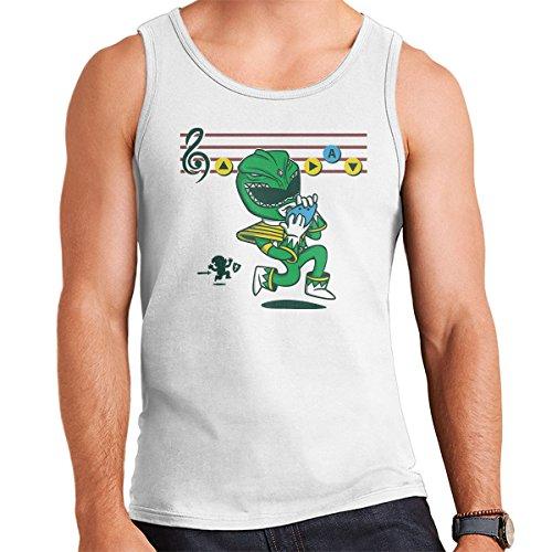 Green Power Ranger Zelda Mashup Men's Vest White