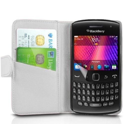 (Bianco) Blackberry 9360 curva elegante in ecopelle Debito / Carta