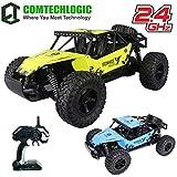 Comtechlogic CM-2221 2.4Ghz 1:12 Escala USB Eléctrico Muscle Off Carretera RC Radiocontrol Remoto SUV Buggy Coche EP RTR - Interior y Exterior - Amarillo