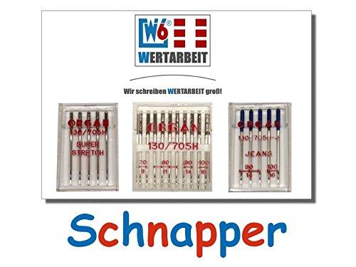 Original W6 Wertarbeit Nähmaschinennadel Set Test