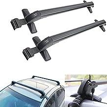 Travesaños universales para el equipaje en el techo del coche, con sistema de bloqueo antirrobo, de 105 cm x 5 cm x 7 cm