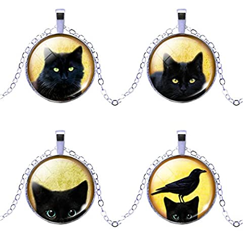 Tom Et Jerry Costumes Femmes - Witching Hour Chat Noir Photo Cabochon Pendentif