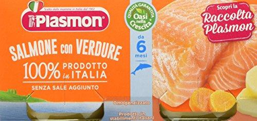 Plasmon Omogeneizzato di Pesce Salmone e Verdure 24 Vasetti da 80 gr