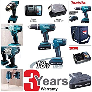 Makita DK18015X2 Cordless Hammer Drill and Impact Driver Combo Set