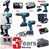 Makita DK18015X2 Cordless Hammer Drill and Impact Driver Combo Set by Makita