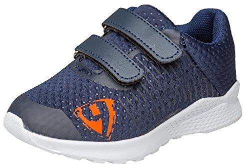 gibra Sportschuhe Sneaker für Babys und Kleinkinder, Art. 5927, Sehr Leicht, mit Klettverschluss, Dunkelblau, Gr. 23 (Sportschuhe Kleinkinder)