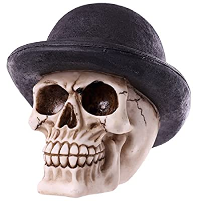 Funky Bowler Hat Skull Ornament Looking For Something A Bit Different To Give As A Gift Then