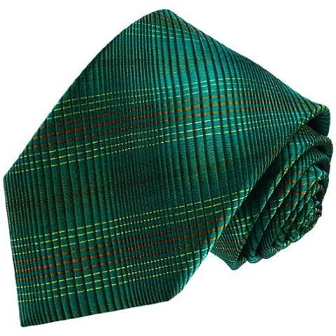 Lorenzo Cana - Corbata - Cuadrados - para hombre Turquesa Azul Verde