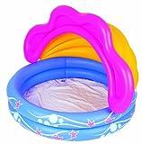 Bestway 51098B - Kinder-Pool mit abnehmbaren Sonnenschutz 142 x 86