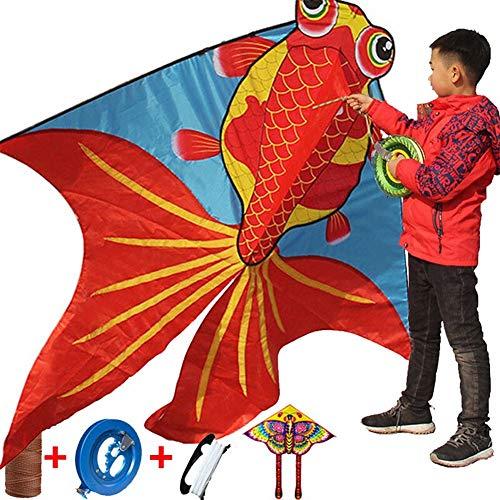 Schmetterling Schwanz Goldfisch Groß Drachen Kinder und Erwachsene, Einfach Fliegen Drachen zum Draussen Spiel, Aktivitäten, Strand Ausflug Großartig Geschenk zu Kinder Kindheit Kostbar Erinnerungen