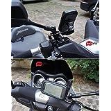 """BrainWizz® Support Métallique Fixation Moto / Scooter / Vélo avec étui Etanche pour iPhone 6/6S (4,7"""") smartphones taille équivalente (135mm x 65mm)"""
