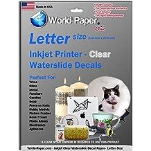 Craftastik - Papel de transferencia adhesivo para impresoras láser (5 paquetes, DIN A4), color blanco