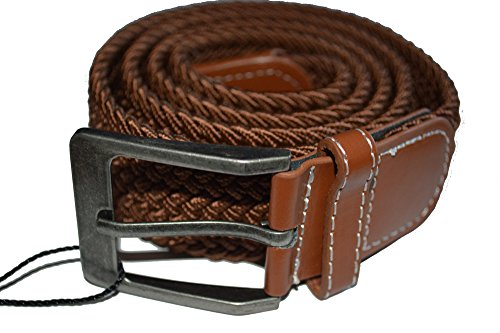 mens-woven-expand-a-band-plain-belt-expandable-waist-fits-all-leather-buckle-brown
