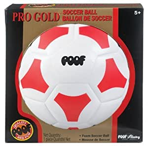 POOF-Slinky - Pro Gold 7.5-Inch Foam Soccer Ball with Box, Size 3, Assorted Colors, 451BL by Poof (English Manual)