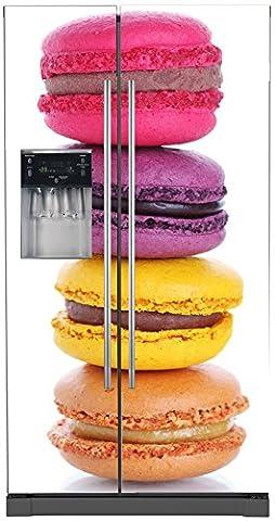 Stickers Macarons - Stickersnews - Sticker frigo américain déco Macaron