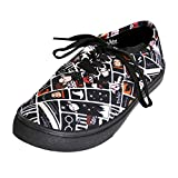 NJ Screenprints Harry Potter Damen Sneaker Schuhe Chibi Style Schwarz weiß - 40