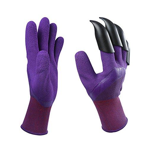 Garten Genie Handschuhe-1Paar mit 4 Fingerspitzen Klauen Schnell&Einfach zu graben und pflanzen Safe...
