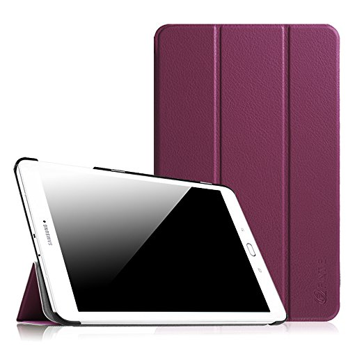 Fintie Samsung Galaxy Tab E 9.6 Hülle Case - Ultra Schlank Superleicht Ständer SlimShell Cover Schutzhülle Etui Tasche für Samsung Galaxy Tab E T560N / T561N 24,3 cm (9,6 Zoll) Tablet-PC, Lila (Lila Tablet)