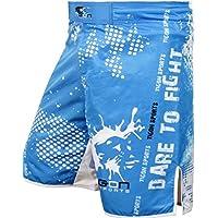 Pantalones cortos para Artes Marciales Mixtas (MMA) para Muay Thai de la UFC de la marca Tigon, color azul gel