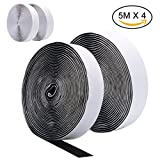 Best VELCRO Double Sided Tapes - 4 Rolls 5M Self Adhesive Hook and Loop Review