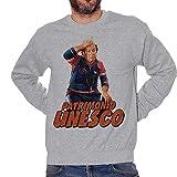 Felpa Girocollo Lino Banfi UNESCO Patrimonio Allenatore nel Pallone - Film Serie TV Choose ur Color - Uomo-L-Grigio