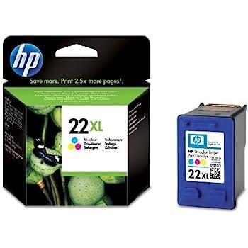 Original HP No22XL 22xl Inkjet Cartridge C9352CE C9352C Tri Colour Deskjet / PSC/ Photosmart/ Officejet /Digital Copier printers - Easy Mail Packaging - Foil Inks