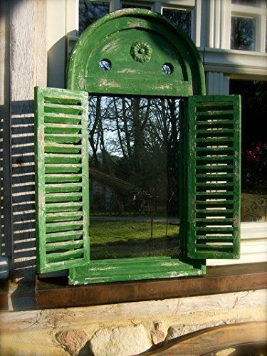 Antikas - Fenster als Spiegel, Spiegelfenster mediterran f Bad, Flur Oder Balkon Terrasse