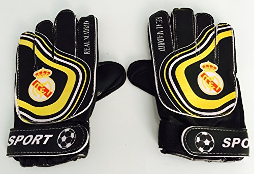 Real Madrid Goalie Gloves Youth/kids One Size 5y-12y by MDS