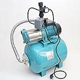 Hauswasserwerk 50Liter mit MHI 1300Watt Pumpe Fördermenge: 6000l/h + integrierten thermischen Schutzschalter mit Pumpensteuerung + Trockenlaufschutz + Rückschlagventil.
