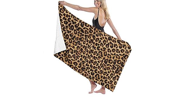 AOOEDM Leopardenmuster Weiche saugf/ähige Handt/ücher kleine Badet/ücher G/ästetuch Einweihungsgeschenke 27,5 x 15,7 Zoll