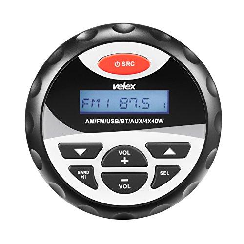 Wasserdicht Bluetooth Marine Stereo-Empfänger mit MP3Player am FM Radio und USB für Streaming Musik auf Booten Golf Carts ATV UTV und Spa Hot Tubs Golf-cart Stereo