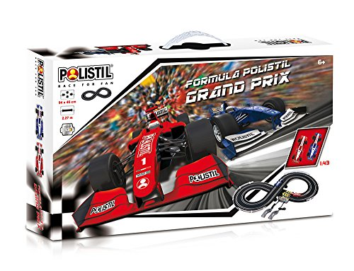 Polistil - Pista Grand Prix 2.3 m, Modelli e Colori Assortiti