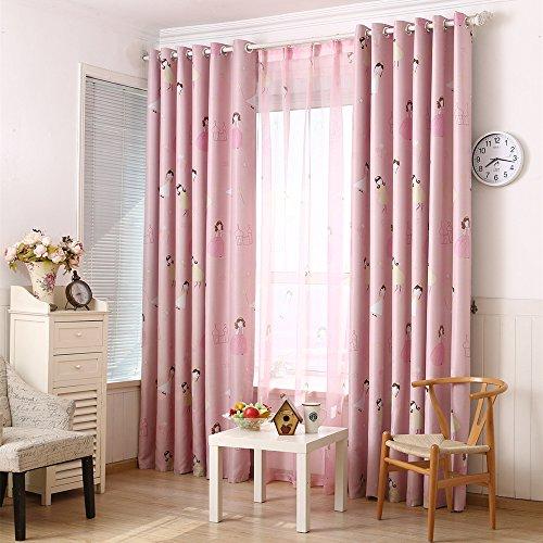 Rosa Kinder Gardinen Schlafzimmer Blickdichte ...