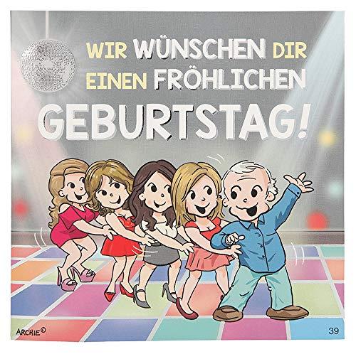 ückwunschkarte mit Musik und Motiv von Archie, Geburtstag, Mehrfarbig ()