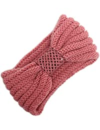 0686d33794b7 zycShang Bandeau Tête Cheveux Femme Laine Tricoté Elastique Couvre-Oreille  Turban Foulard Wrap Headwrap Boule Tricot éLastique à La Main…