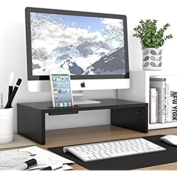 rfiver wood monitor stands screen riser for computers. Black Bedroom Furniture Sets. Home Design Ideas