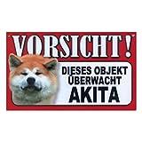 Tier-Warn-Schild für Innen und Außen Akita Inu