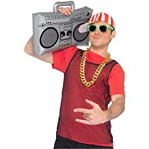 Boombox inflable inflable negro - de Smiffy