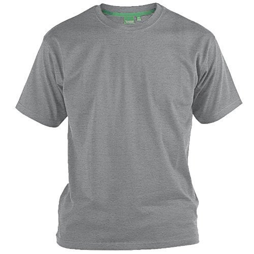 Herren Kurzärmelig 2er Packung T-shirts By D555 Duke Groß King-size Grau/weiß - FENTON