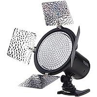 YONGNUO YN216 3200K-5500K LED Luz de Vídeo Dispara Cámara con 4 Placas de Color para Canon Nikon DSLR