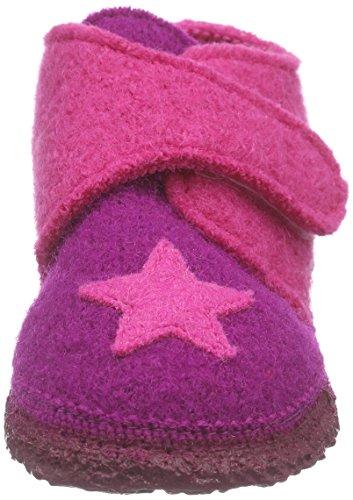 NangaStern - Pantofole Bimba 0-24 Multicolore (Mehrfarbig (Beere 32))