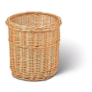 Adam Schmidt Waste Paper Basket, Made from Willow, Round, H: 300 mm, Diameter:280 mm