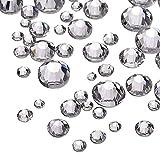 vientiane Klar Flache Rückseite Strasssteine, 4320 Stück Verschiedene Größen Transparente Runde Micro Diamond Crystal 2 mm, 3mm, 5 mm für DIY Fingernagel,Kunstwerk, Dekorationen