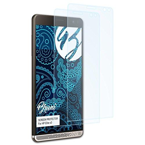 Bruni Schutzfolie kompatibel mit HP Elite x3 Folie, glasklare Bildschirmschutzfolie (2X)