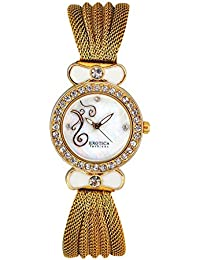 Exotica Analog White-Gold Dial Women's Watch