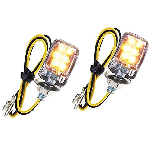 2Paar Mini Motorrad Indikatoren Micro LED-Anzeige E Mark Turn Signal Lichter Schwarz Motorrad - Mini 2 Licht
