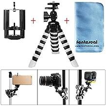 Fantaseal® Acción Cámara Flexible Trípode Octopus Gorillapod Mesa de trípode de exterior Mesa de trabajo Trípode de viaje Soporte de trípode portátil con pinza de Smartphone y rosca de 1/4 '' para SONY FDR-X3000R FDR-X1000VR HDR-AS300R HDR AS10 AS15 AS20 AS30 AS50 AS100 AS200 HDR AZ1 VTech Kidizoom Cámara para niños Polaroid XS100 Kodak Samsung Nikon KeyMission 360 170 80 Cámara de acción / Smartphone Cámara / Cámara compacta / GoPro Trípode